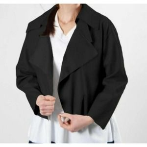 Planet by Lauren G Triple Collar Jacket OS Black